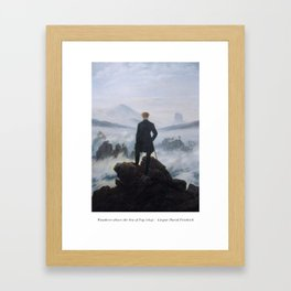 Wanderer above the Sea of Fog - Caspar David Friedrich Framed Art Print
