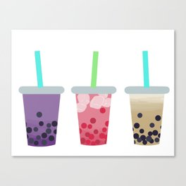 Bubble Tea Trio Canvas Print