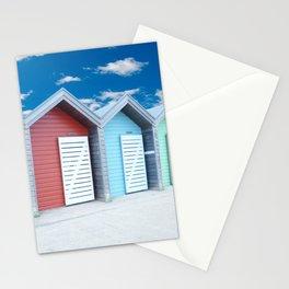 'Beach huts' Northumberland Stationery Cards