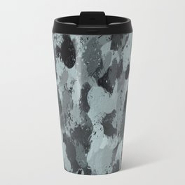 Black and Smokey Blue Pastels 3216 Travel Mug