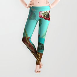 BOOTS N FLOWERS Leggings