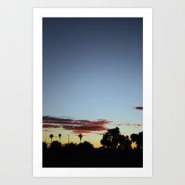 Sunset In The Park Art Print