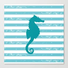 AFE Turquoise Seahorse Canvas Print