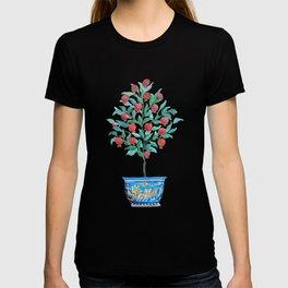 Persephone- Pomegranate Tree on White T-shirt