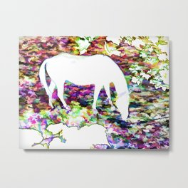 Horse grazing Metal Print