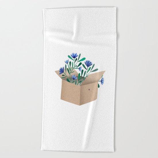 think outside the box Beach Towel