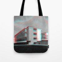 bauhaus Tote Bags featuring Bauhaus · Das Bauhaus 4 by Marko Köppe