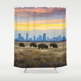 City Buffalo Shower Curtain