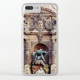 Medici Fountain in Autumn Clear iPhone Case