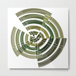 Exploded view camouflage Metal Print