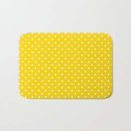 Dots (White/Gold) Bath Mat