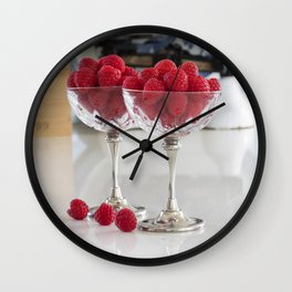 Raspberry desserts Wall Clock