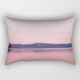 Rose Colored Dream of Lake Tahoe Rectangular Pillow