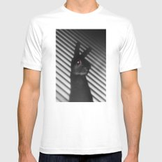Shadow Bunny SMALL White Mens Fitted Tee