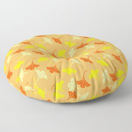 Orange Auspicious Momiji Maple Leaf Japanese Kimono Pattern Floor Pillow