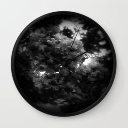 Crape Myrtle Dark Wall Clock