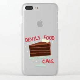 Devil's Food Cake An All American Classic Dessert Clear iPhone Case