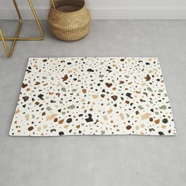 Gold Terrazzo Pattern Fragments Rug