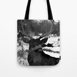 Stag in the Shadows Tote Bag