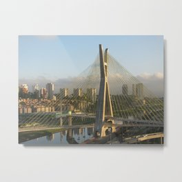Sao Paulo, Brazil - Octavio Frias de Oliveira bridge Metal Print