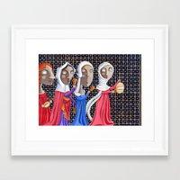 federico babina Framed Art Prints featuring L'epoca di Federico II - Corteo di dame by Francesca Cosanti