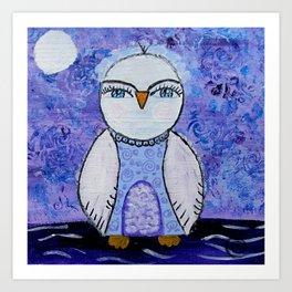 Whimsy Owl Art Print