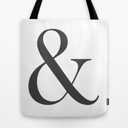 &- Ampersand Pillow Charcoal Tote Bag
