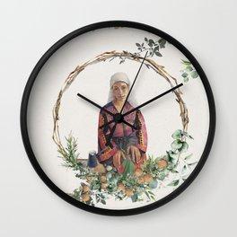 Flower Jaffa  Wall Clock