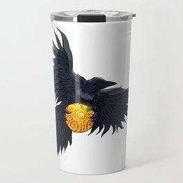 Crow Grabbing Sphere Travel Mug