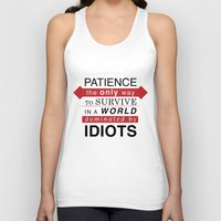 typo Tank Tops featuring Patience Typo by gac714