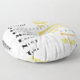 Retirement Floor Pillow