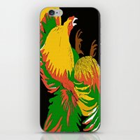 rooster iPhone & iPod Skins featuring Rooster by Saundra Myles
