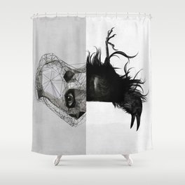 Everything in its right place Shower Curtain