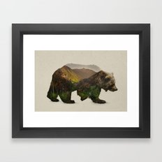 North American Brown Bear Framed Art Print