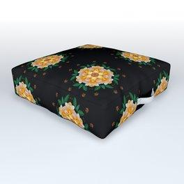 Yellow flower motif Outdoor Floor Cushion