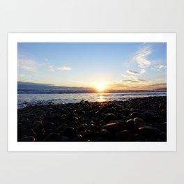 Ocean sunset - Malibu Art Print