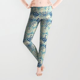 lotus diamond blue Leggings