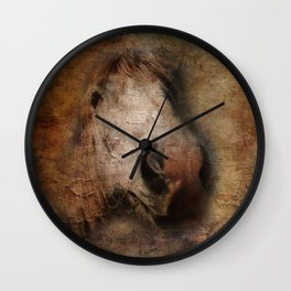 Vintage portrait of the horse Wall Clock