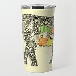 African Elephant Sketch  Travel Mug