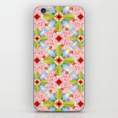 Pink Paisley Flowers iPhone & iPod Skin
