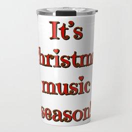 Christmas Music Season Travel Mug