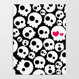 A skull in love Poster