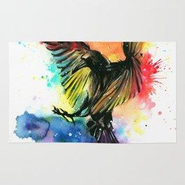 The colourful crow Rug