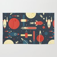 2001 a space odyssey Area & Throw Rugs featuring Space Odyssey by Tracie Andrews