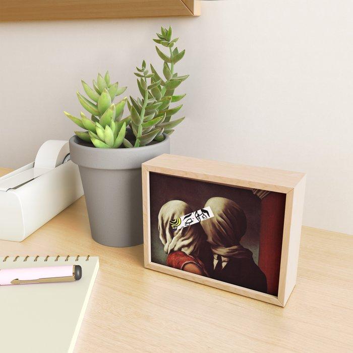 les amants magritte pop Framed Mini Art Print