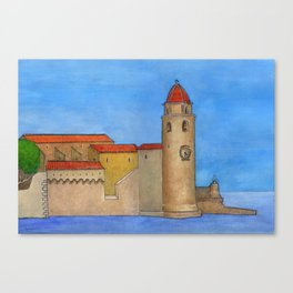 Colliure Canvas Print