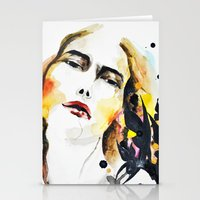 grateful dead Stationery Cards featuring Grateful by Mitra Art