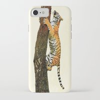 climbing iPhone & iPod Cases featuring Tree Climbing by Peaky40
