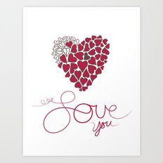 Love You . . . Art Print
