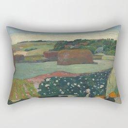 Paul Gauguin - Haystacks in Brittany Rectangular Pillow